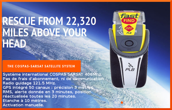 The FAST FIND 220 is small and light enough for you to carry on yourperson at all times. Using advanced technology, the FAST FIND 220transmits a unique ID and your current GPS co-ordinates via theCOSPAS-SARSAT global search and rescue satellite network, alerting therescue services within minutes. Once within the area, the search andrescue services can quickly home in on your location using the unit's121.5Mhz homing beacon and flashing LED SOS light. boathouse.ca